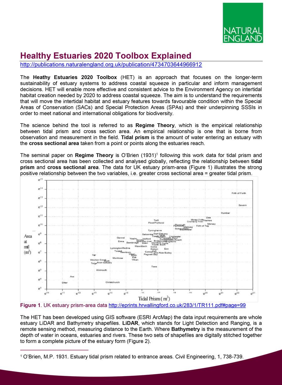 Healthy Estuaries 2020 Toolbox Explained (PDF)
