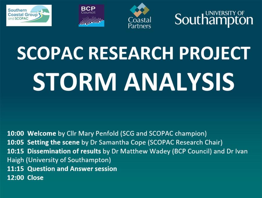 SCOPAC Storm Analysis Study