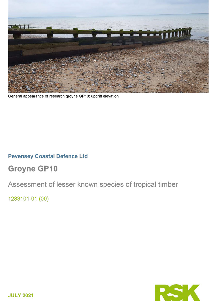 Groyne GP10: Assessment of lesser known species of tropical timber