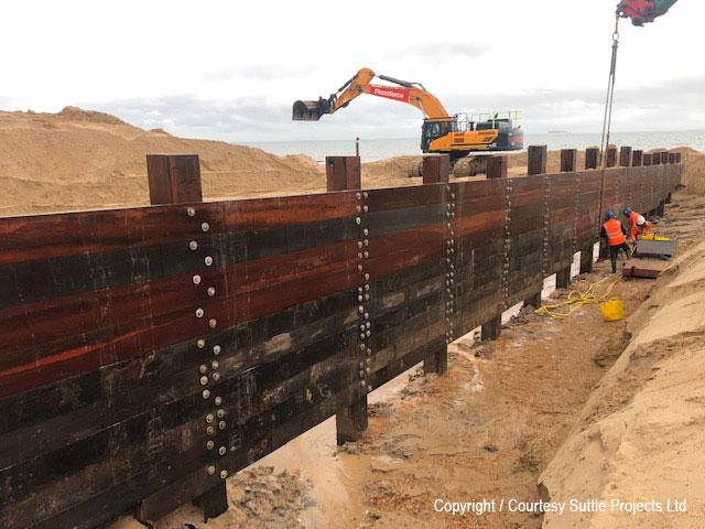 Timber Groyne renewal, Bournemouth, winter 2020/21